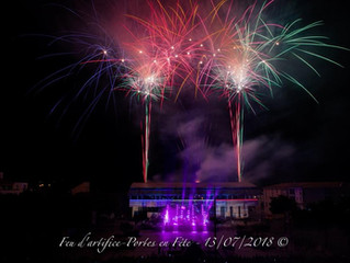 Un feu d'artifice de plaisir à Portes les Valence et Nimes  pour les 13 et 14 juillet dernier… w