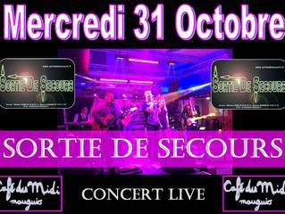 DERNIÈRE DATE www.sortiedesecours.fr Halloween 2018 Café du midi à Mauguio 22H00