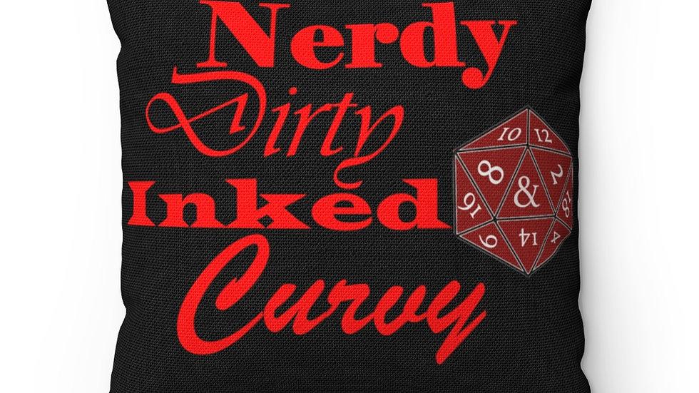 Nerdy Curvy Spun Polyester Square Pillow