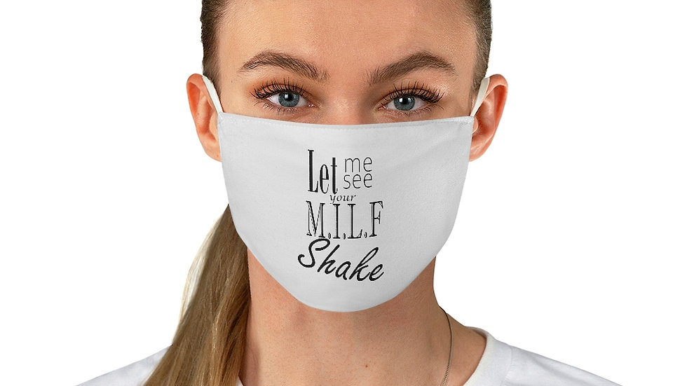 Milf Shake Fabric Face Mask
