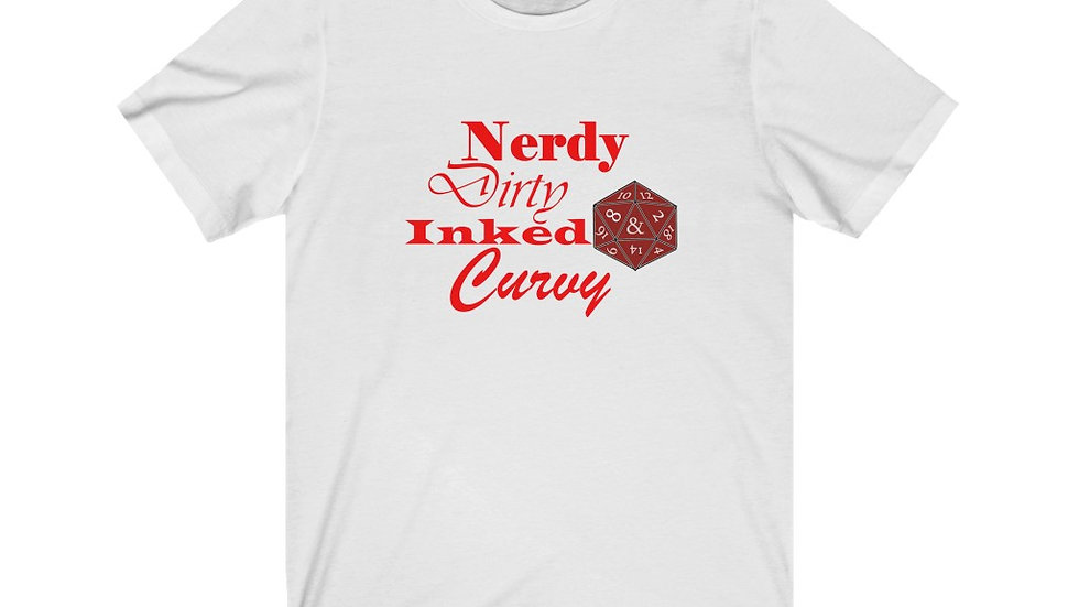 Nerdy Curvy Unisex Jersey Short Sleeve Tee