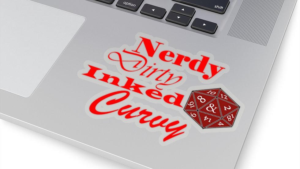 Nerdy Curvy Kiss-Cut Stickers