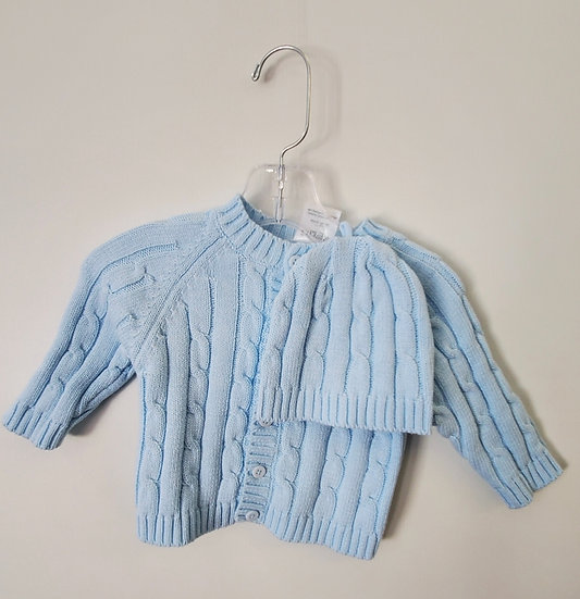 Button up Sweater with matching Hat