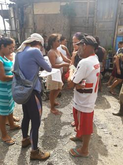 Cadastro para doações de cestas na favela Portelinha 03/04/2020