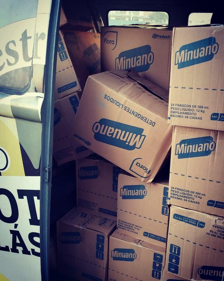 Doação de detergentes 24,25 e 26/04
