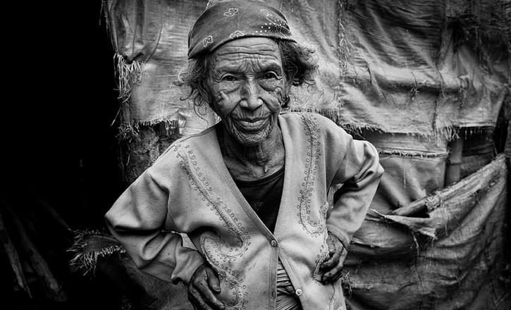 Elderly lady in Pokara, Nepal. 2012