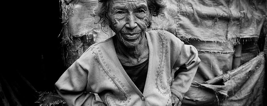 Elderly lady in Pokara, Nepal. 2012