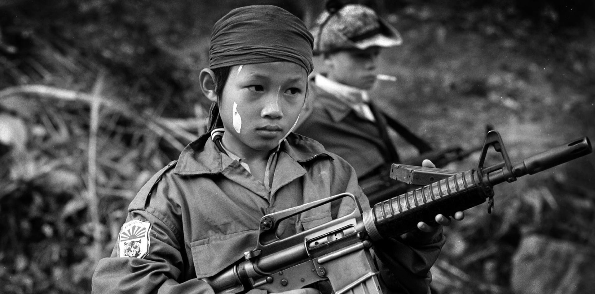 Ten year old Karen soldier. 2000