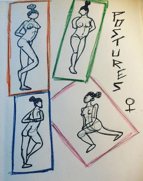 croquis postures