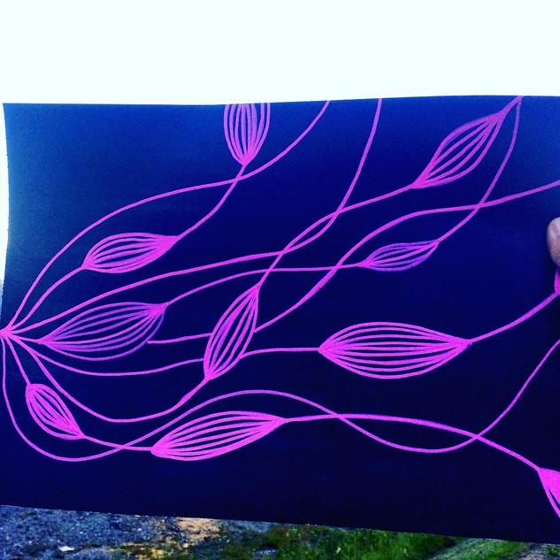 Pink aqua marina