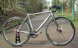 race gravel titanium belt driven bike