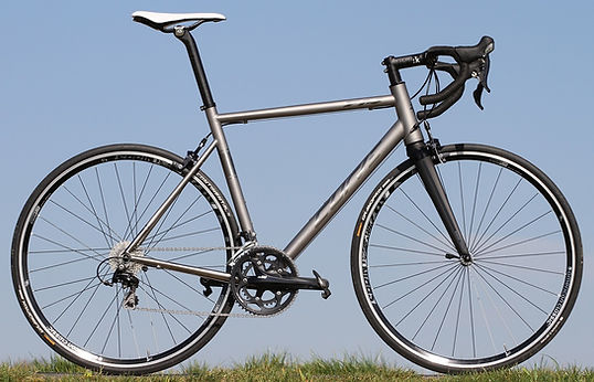 titanium XC race bike with belt