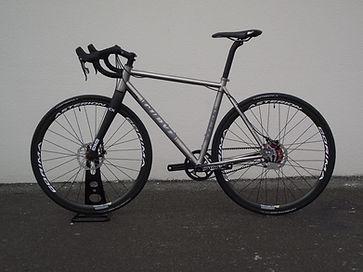 titanium XC race bike with belt