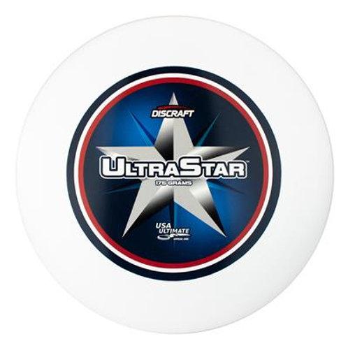 175 ultra star center print white צלחת 175 עם הדפס אמצע בצבע לבן
