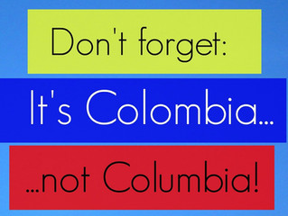 COLOMBIA not COLUMBIA