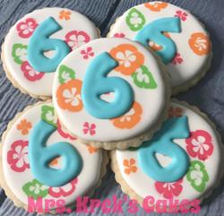 Hawaiian Theme Cookies