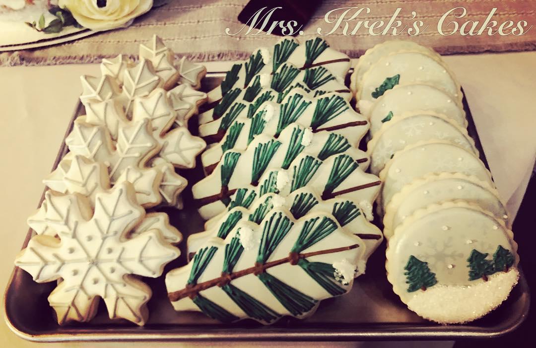 Winter Wedding Cookies