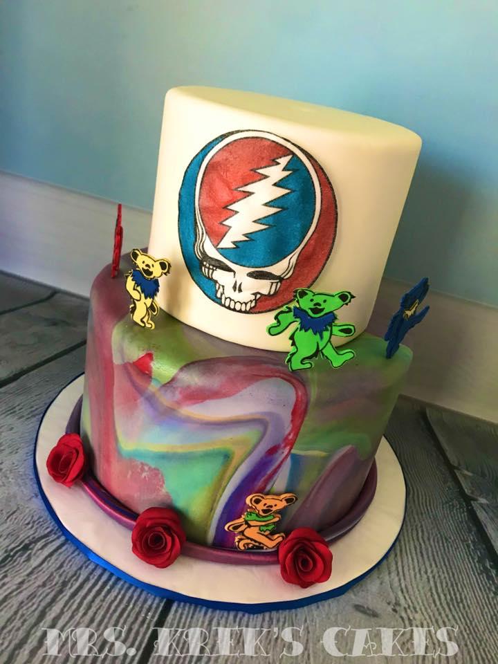 Grateful Dead Grooms Cake