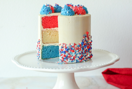 Banner's Patriotic Red, White, and Blue Cake
