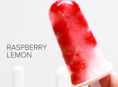 Banner's Raspberry Lemon Popsicles