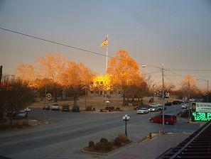 Flag on Square at sunset.JPG