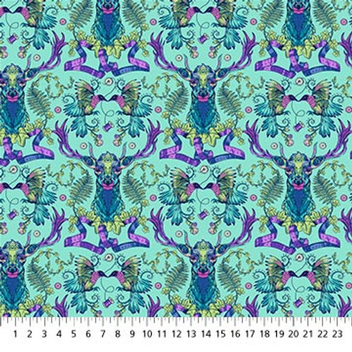 Deep Ridge in Turquoise - Stag & Thistle by Northcott Fabrics