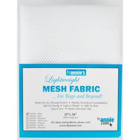 By Annie Mesh Fabric in White 1/2 Yard (18in x 54in) Package