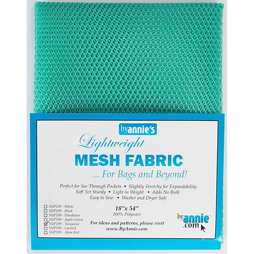 By Annie Mesh Fabric in Turquoise 1/2 Yard (18in x 54in) Package