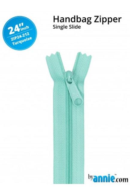 "24"" HandBag Zipper in Turquoise By Annie"