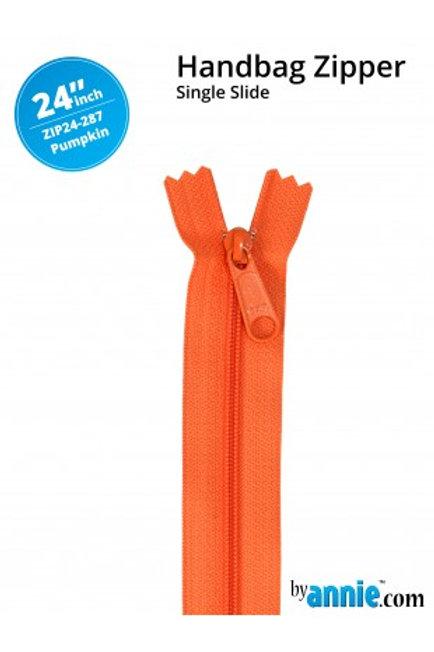 """24"""" HandBag Zipper in Pumpkin By Annie"""