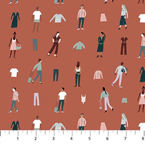Figo Fabrics Away We Go by Yelena Bryksenkova - People in Rust