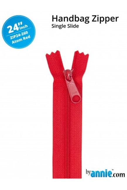 "24"" HandBag Zipper in Atom Red By Annie"