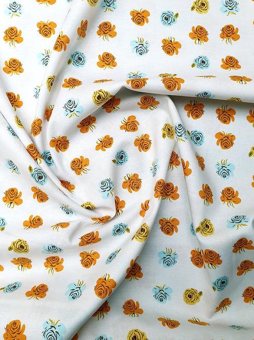 Windham Fabrics Far Far Away 2 By Heather Ross - Flowers in Aqua