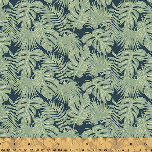 Isla from Windham Fabrics - Palm Leaves on Navy