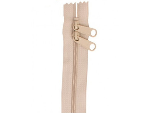 "30"" Double Slide Bag Zipper Natural By Annie"