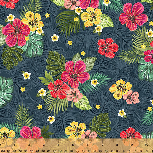 Isla from Windham Fabrics - Flowers inNavy