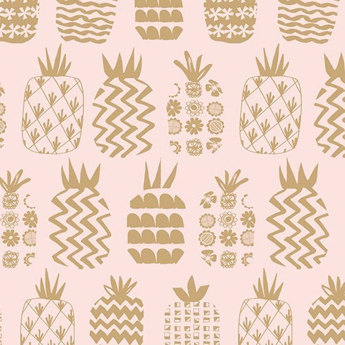 Dashwood Studios Ocean Drive - Pineapples Blush Pink (Metallic)