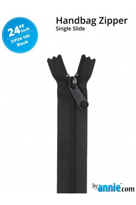 "24"" HandBag Zipper in Black By Annie"