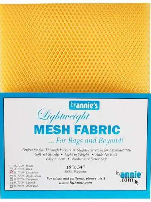 By Annie Mesh Fabric in Dandelion 1/2 yard (18in x 54in) Package