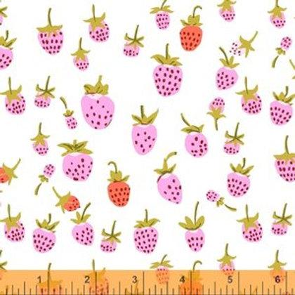 Windham Fabrics Strawberries in Lilac Heather Ross 20th Anniversary