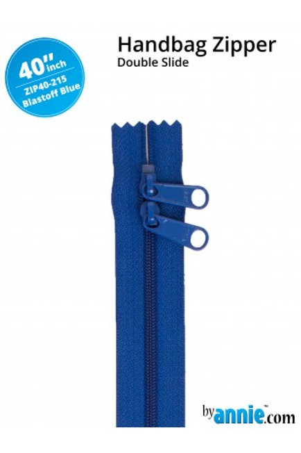 "40"" Double Slide HandBag Zipper in Blastoff Blue By Annie"