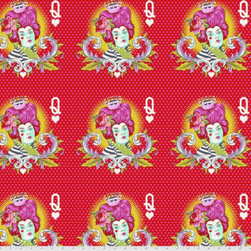 Tula Pink Curiouser and Curiouser Red Queen in Wonder - £3.70 per 5 full faces