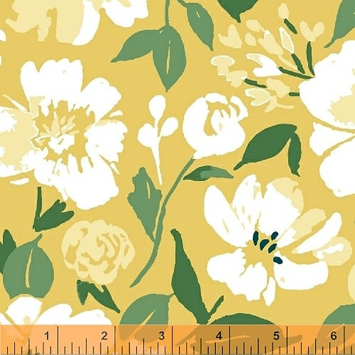 Windham Fabrics Pink Lemonade -Flowers on Lemon