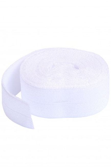Fold-Over Elastic 20mm 2 Yard Package in White By Annie