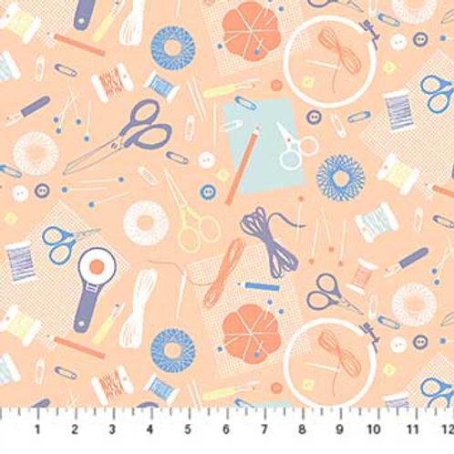 Figo Fabrics DIY - Sewing Tools in Pale Orange