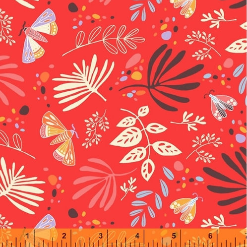 Windham Fabrics Ariel - Scatter in Red Orange