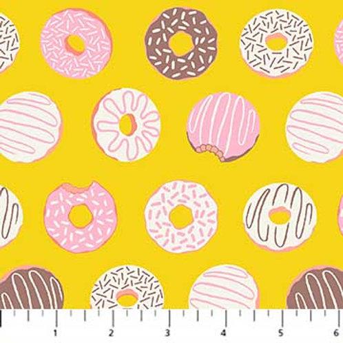Figo Fabrics America Road Trip - Yellow Donuts &