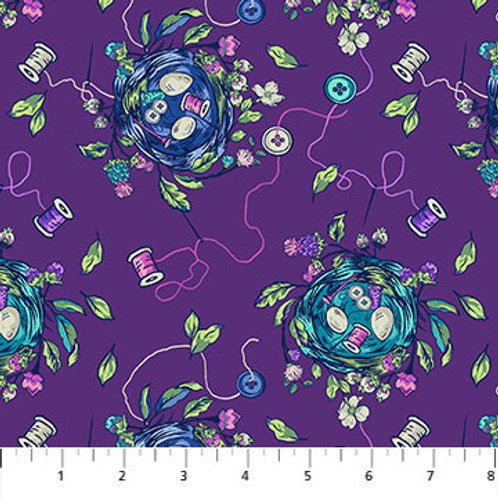 Sew Bountiful in Purple Multi - Stag & Thistle by Northcott Fabrics