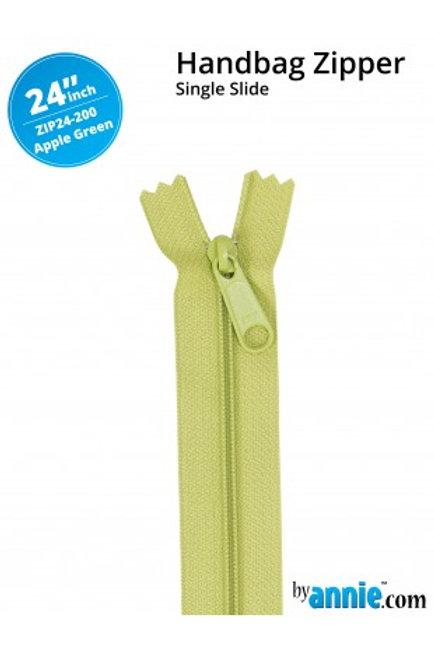 "24"" HandBag Zipper in Apple Green By Annie"