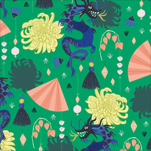 Cloud9 Dragons & Lanterns - Fierce Green